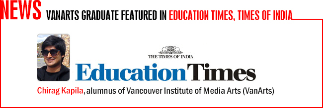 Chirag Kapila - Education Times feature