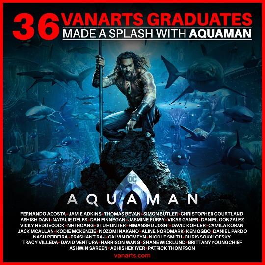 Aquaman visual effects program grads VanArts