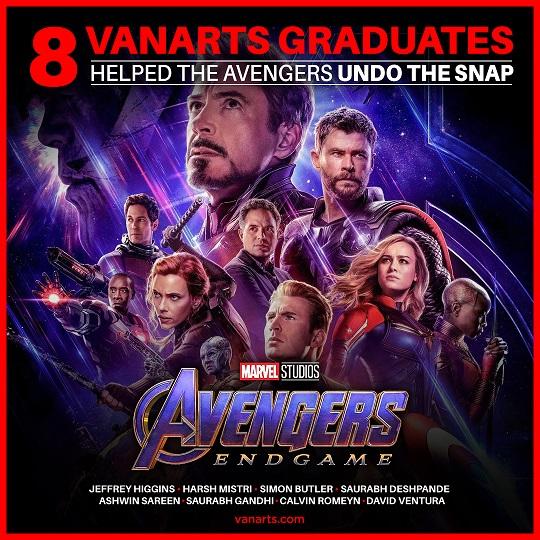 Avengers Endgame vfx students from VanArts