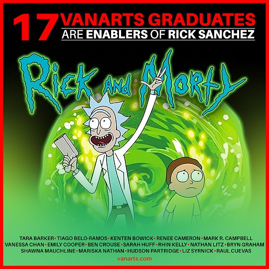 Rick Morty animation program grads