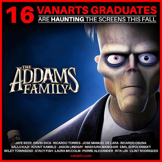 Addams Family animation workers VanArts alumni