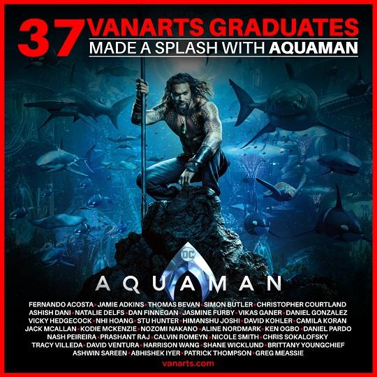 Aquaman visual effects animation workers VanArts