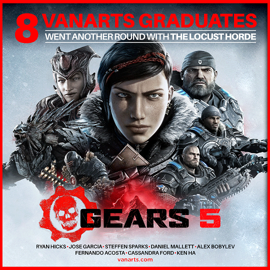 Gears 5 game art credits by VanArts students