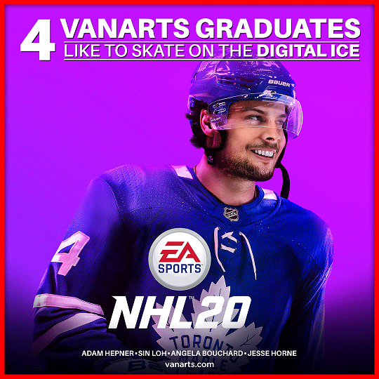 NHL 20 from EA VAnArts game art students